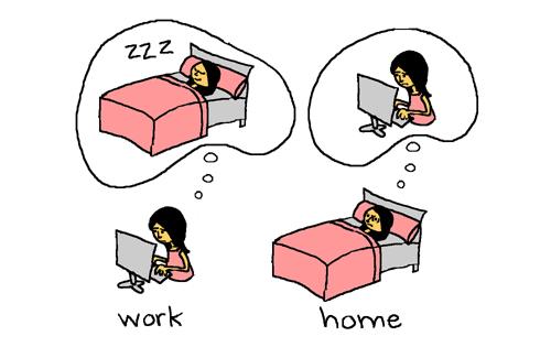 praca i sen